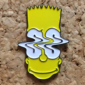 1Stop Festy Supply Shop  Bart Simpson Trippy Hat Pin