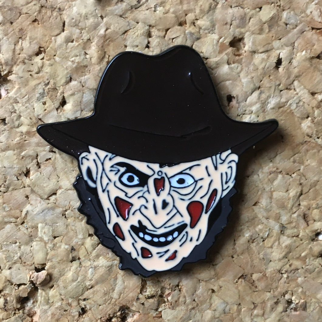 1Stop Festy Supply Shop  Freddy Krueger Face Hat Pin