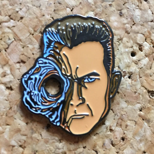 Terminator Split Face Hat Pin -Music Festival Essentials-1StopFestyShop.com