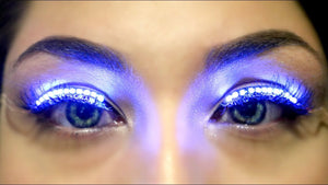 LED Eyelashes Lashes Light Up -Music Festival Essentials-1StopFestyShop.com