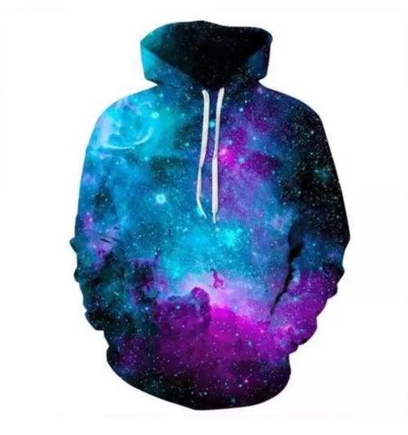 Galaxy Night Pullover Hoodie -Music Festival Essentials-1StopFestyShop.com