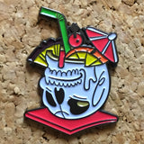 Skull Pina Colada Hat Pin - 1Stop Festy Supply Shop