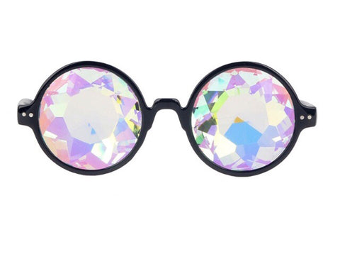 Circle Frame Diffraction Glasses -Music Festival Essentials-1StopFestyShop.com