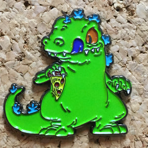 Reptar Rugrats Pizza Hat Pin -Music Festival Essentials-1StopFestyShop.com