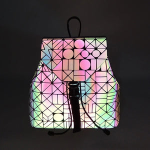 Holographic Reflective Festival Backpack -Music Festival Essentials-1StopFestyShop.com