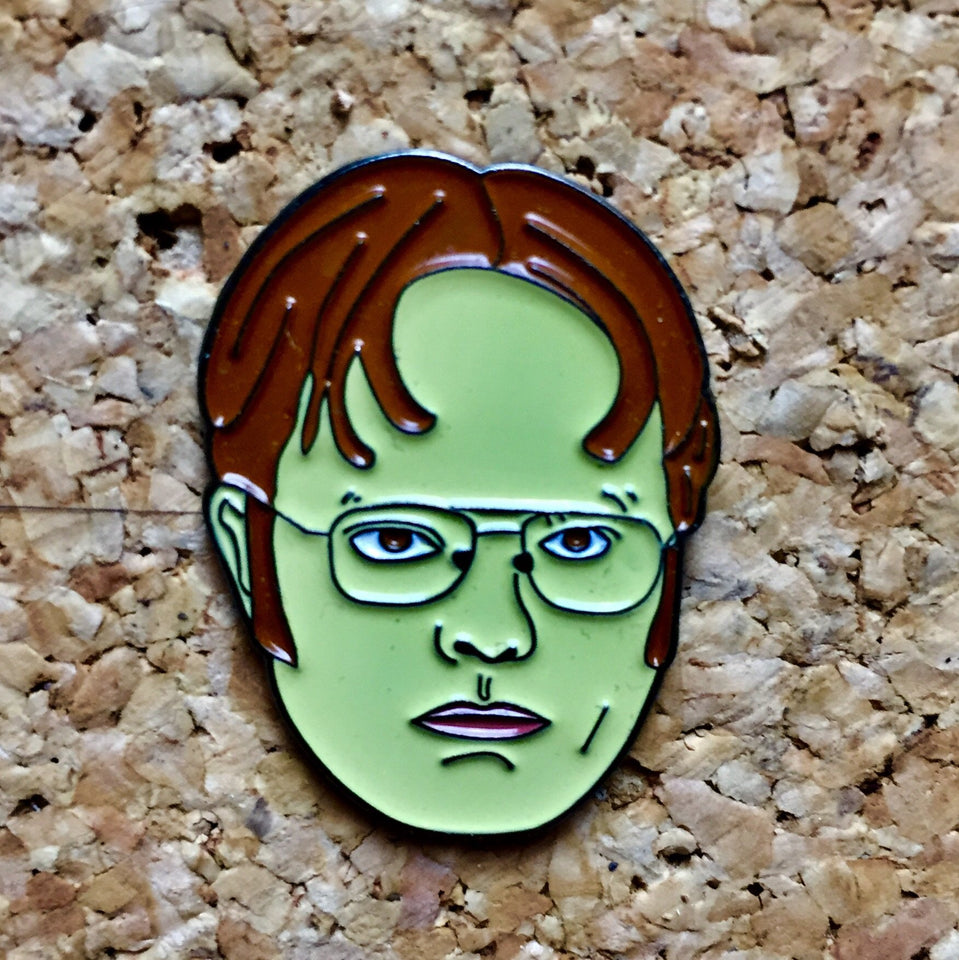 "1Stop Festy Supply Shop  Dwight ""The Office"" Collectible Hat Pin"