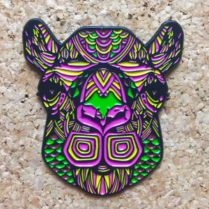 Neon Camel Head Festival Hat Pin - 1Stop Festy Supply Shop