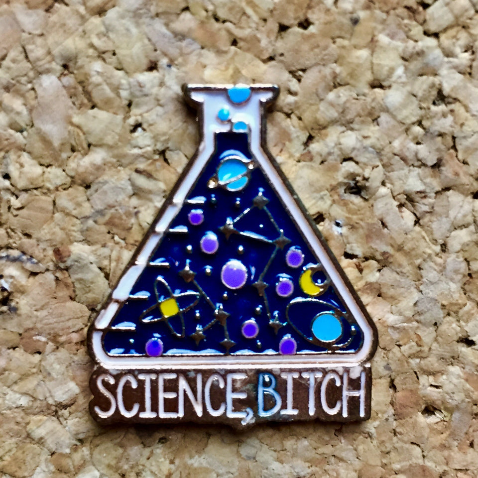 Science B*tch Flask Hat Pin -Music Festival Essentials-1StopFestyShop.com