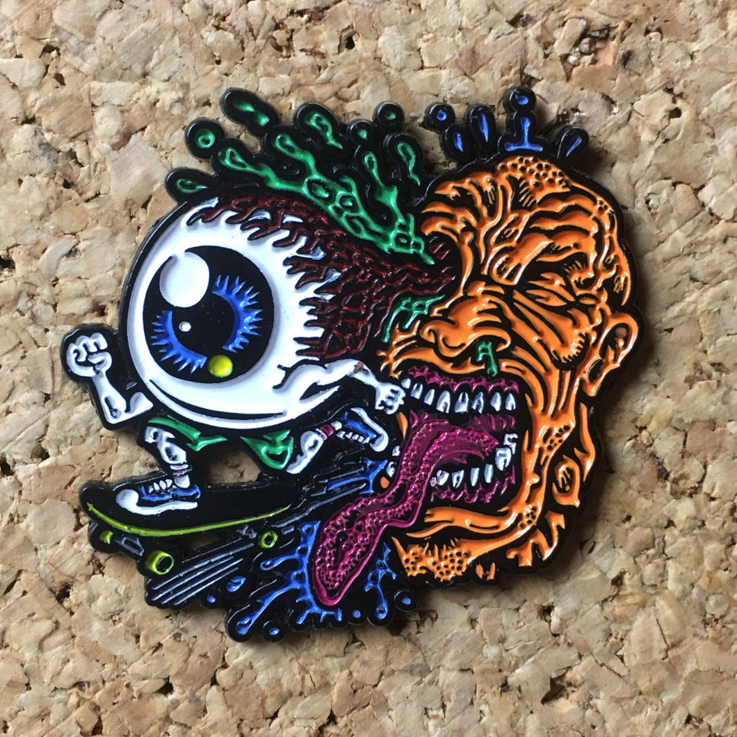 Skateboarding Cyclops Eye Hat Pin -Music Festival Essentials-1StopFestyShop.com