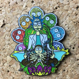 Rick and Morty Sparkle Hat Pin -Music Festival Essentials-1StopFestyShop.com