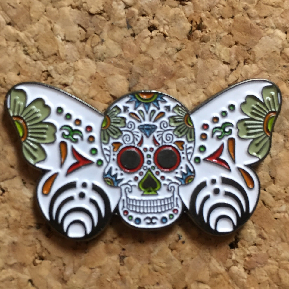 1Stop Festy Supply Shop  Bassnectar Sugar Skull Butterfly Hat Pin