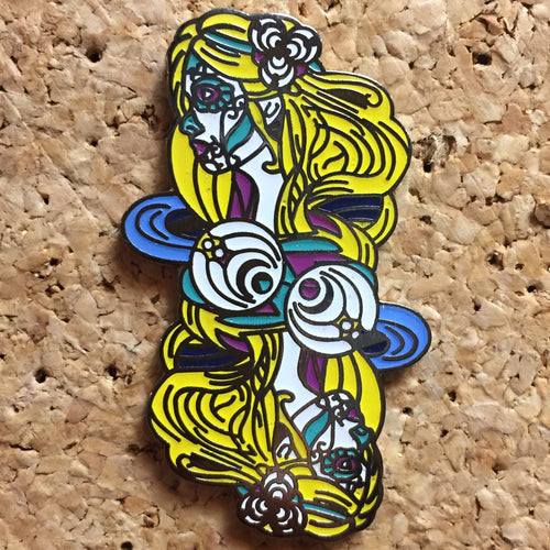 Bassnectar Goddess Reversible Hat Pin -Music Festival Essentials-1StopFestyShop.com