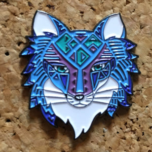 1Stop Festy Supply Shop  Blue Coyote Festival Hat Pin