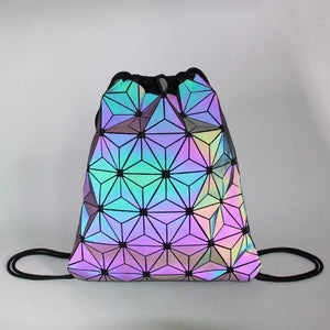 Drawstring 3M Reflective Festival Backpacks - 1Stop Festy Supply Shop
