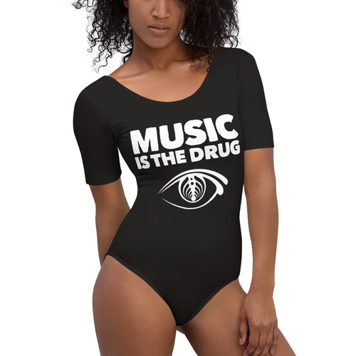 Music Is The Drug Bassnectar Short Sleeve Bodysuit - 1Stop Festy Supply Shop