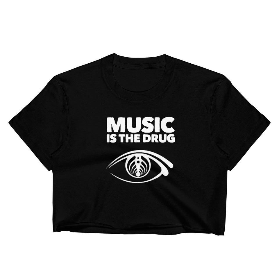1Stop Festy Supply Shop  Music Is The Drug Bassnectar Women's Crop Top