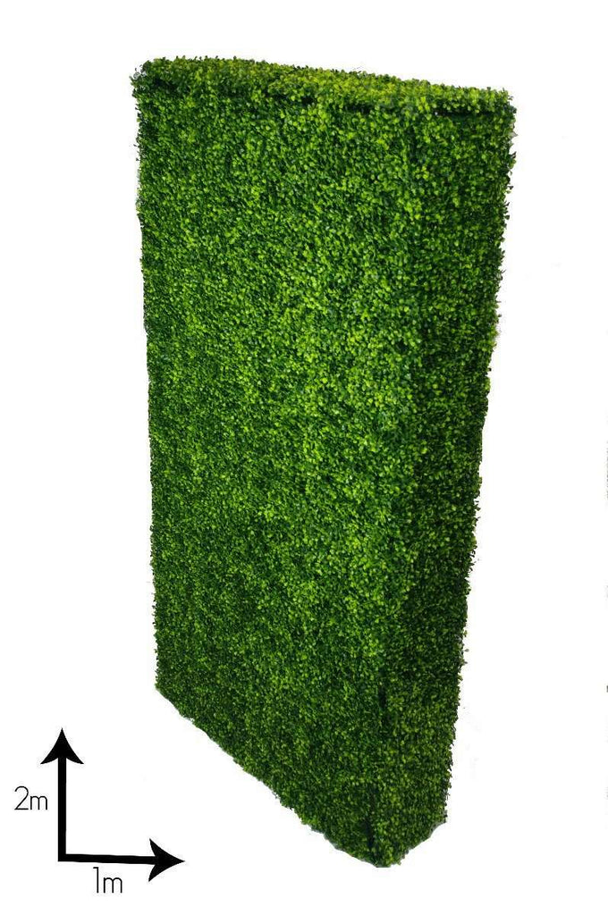 Large Portable Boxwood Hedges UV Stabilised 2m By 1m - Desirable Home Living
