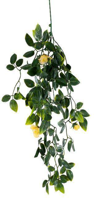 Yellow Mixed Hanging Foliage UV 60cm - Desirable Home Living