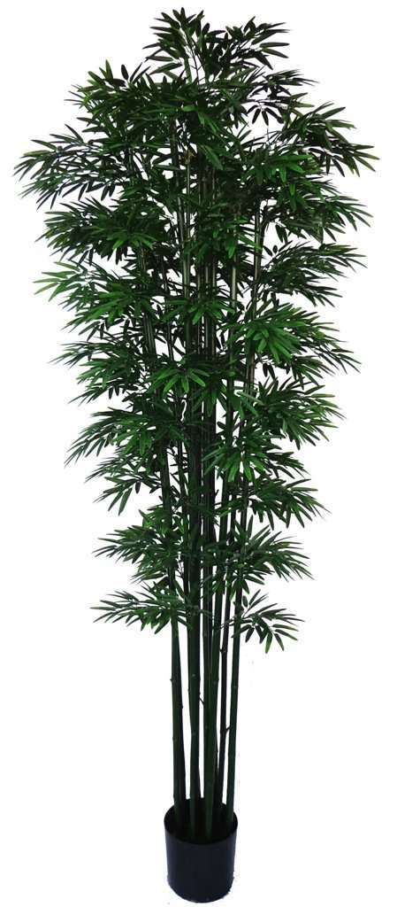 UV Stabilized Artificial Japanese Bamboo On A Green Trunk 2.1m