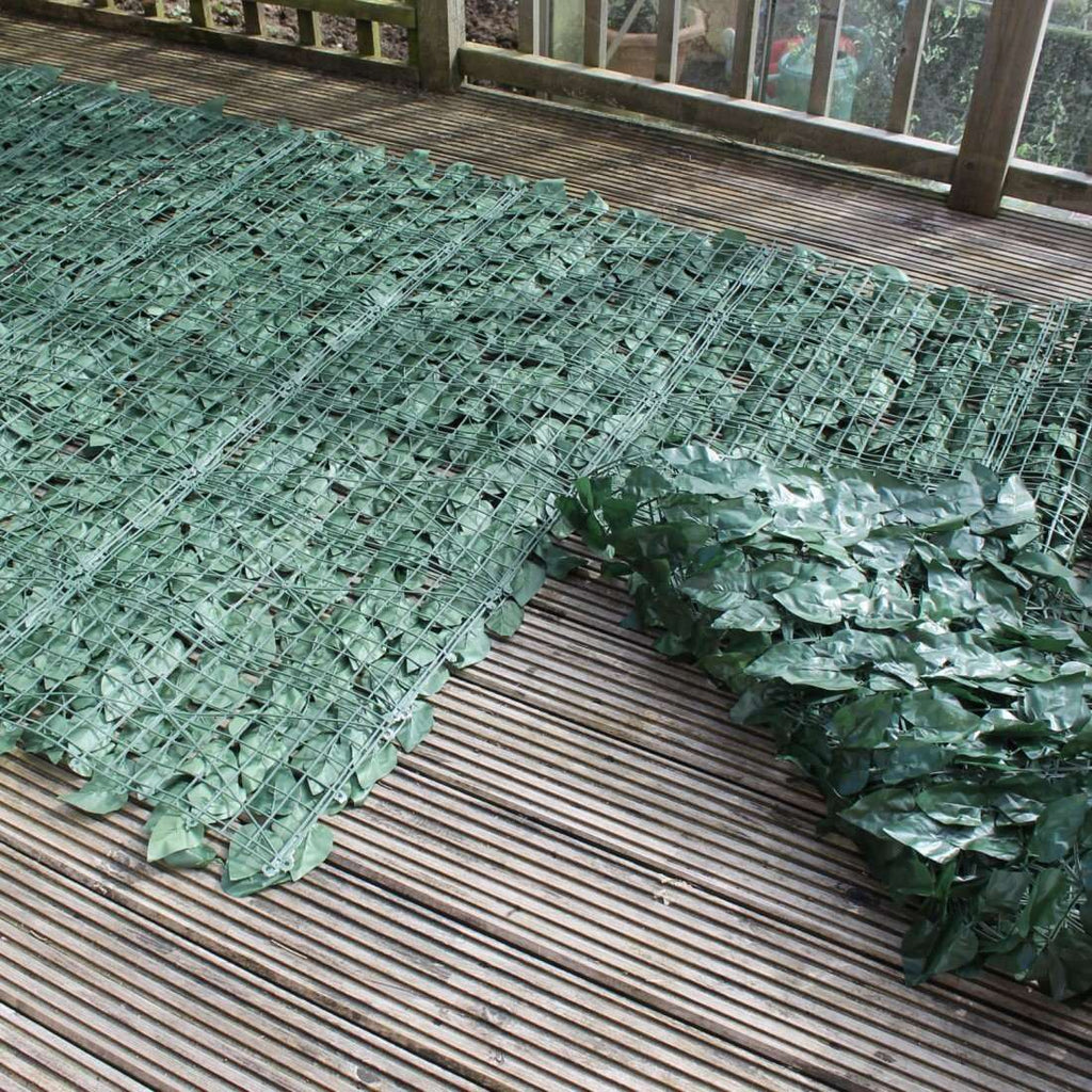 Artificial Ivy Leaf Hedging 3m X 1m Roll - Desirable Home Living