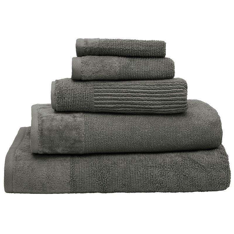 Costa Cotton Pewter Bath Towel by Bambury