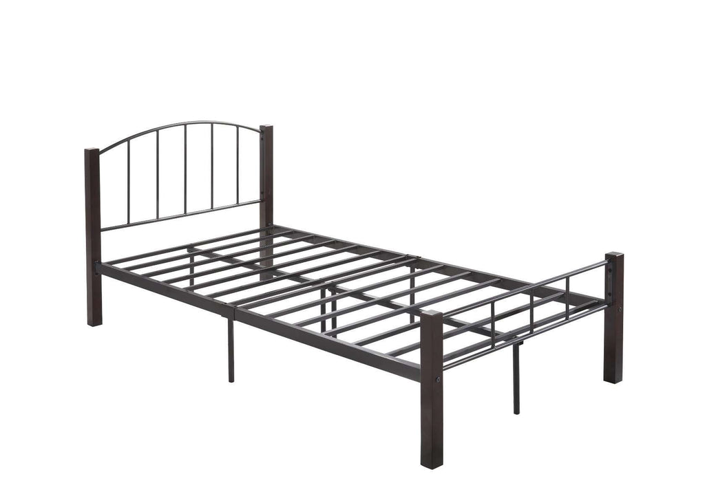 KING SINGLE  bed frame w/ solidwood post in Black + Wenge