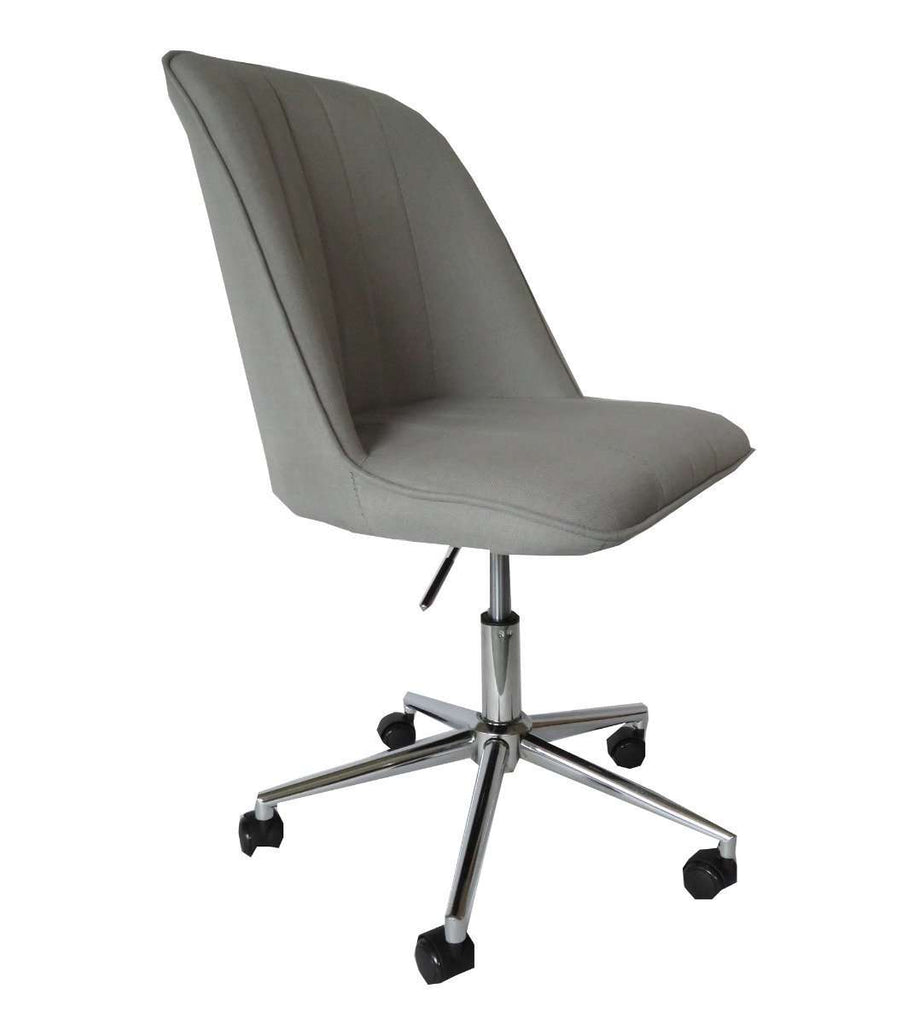 Bergen Light grey fabric gas lift home office chair