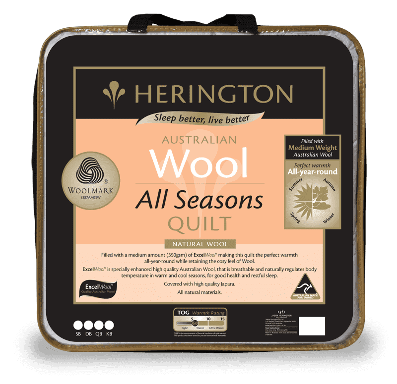 Australia Wool All Seasons Queen Quilt by Herington