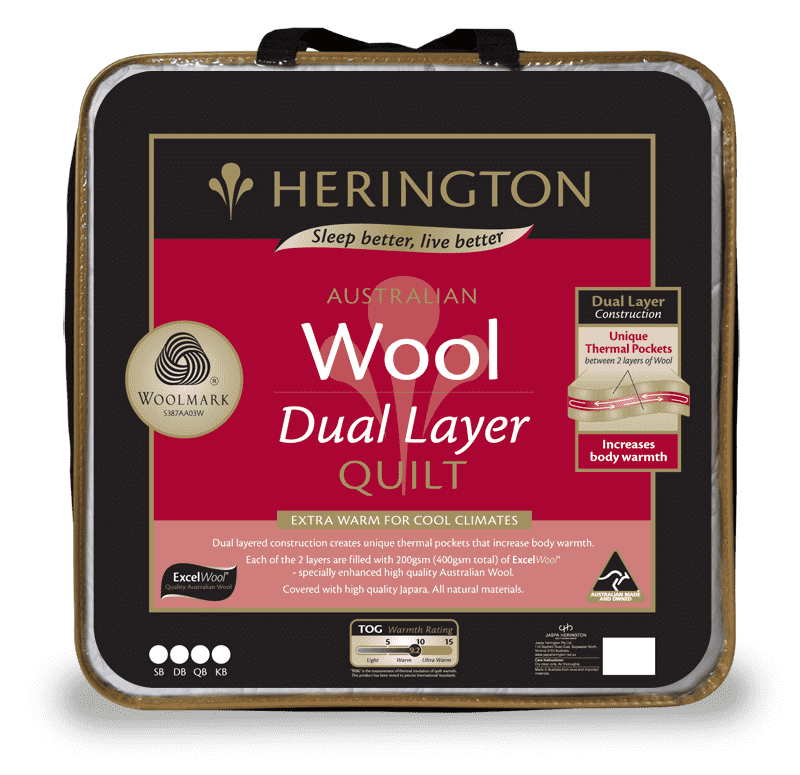Wool Dual Layer Queen Quilt by Herington