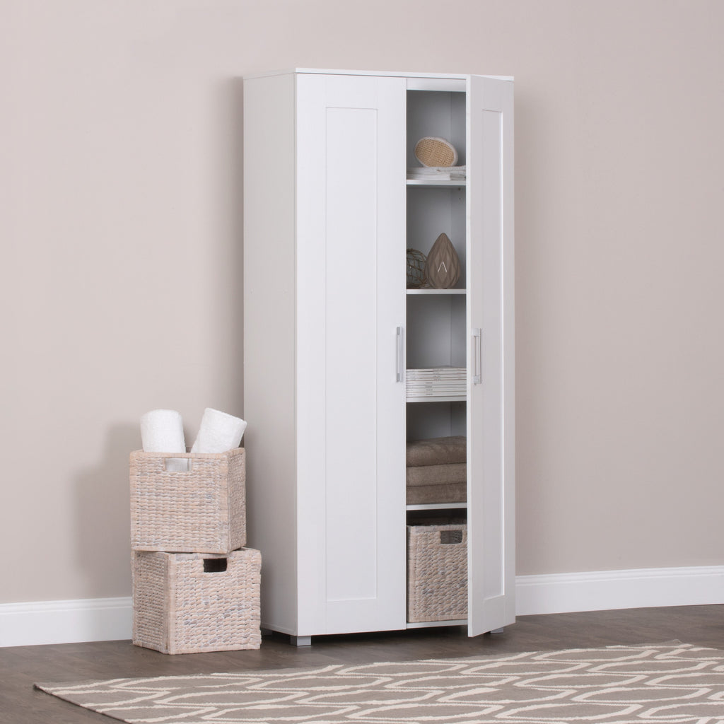 Montreal Cupboard 2 Door Tall White
