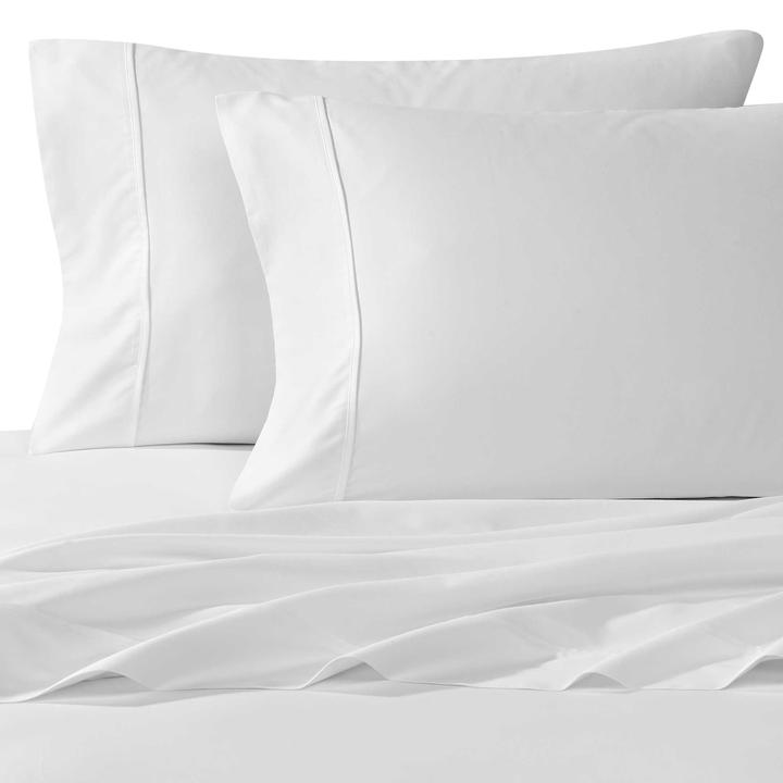 Renee Taylor 300 Thread Count Luxurious 100% Egyptian Cotton Percale Single Sheet Set
