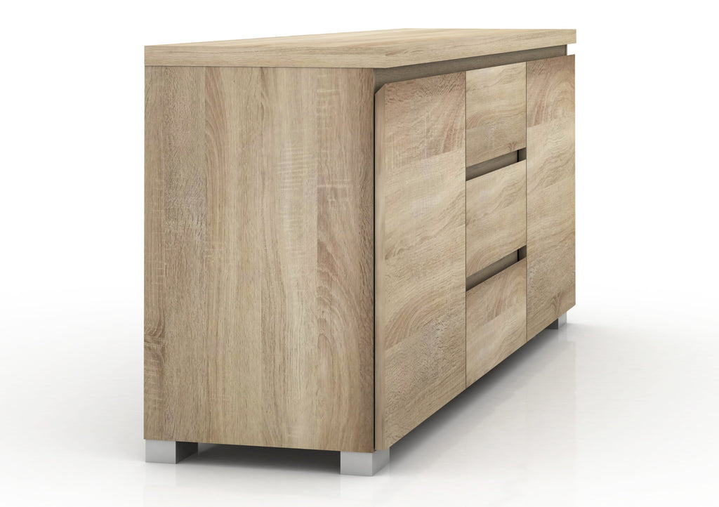 Elara 2 Door 3 Drawers Buffet - Light Sonoma Oak