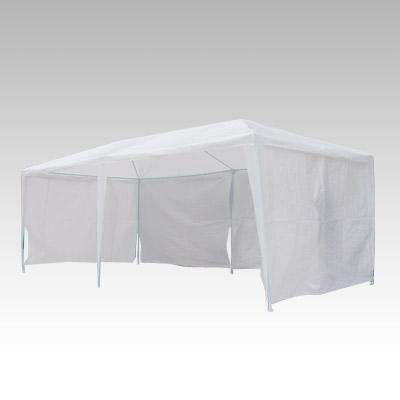 3x6m Gazebo Outdoor Marquee Tent Canopy WHT