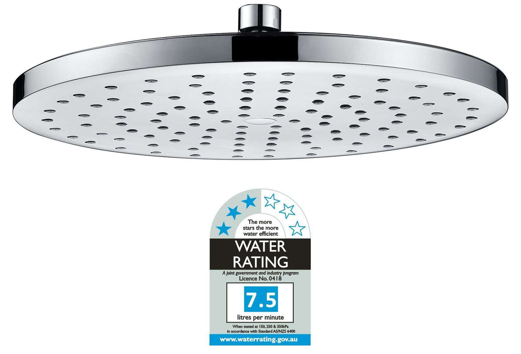 Overhead Rain Shower Head - 260mm Circular Large Chromed - Desirable Home Living