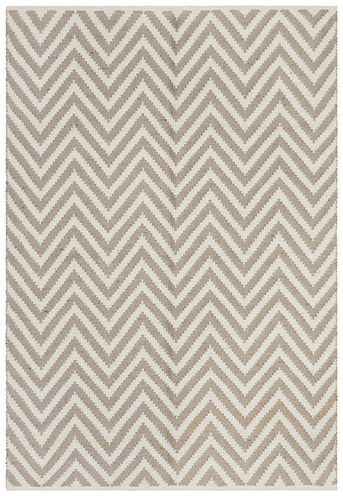 Abode Chevron Design Grey Rug