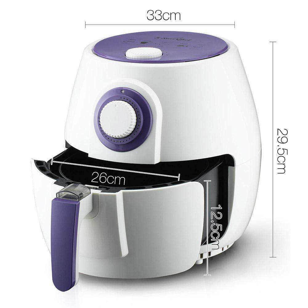 2.6L 1300W Air Fryer White - Desirable Home Living