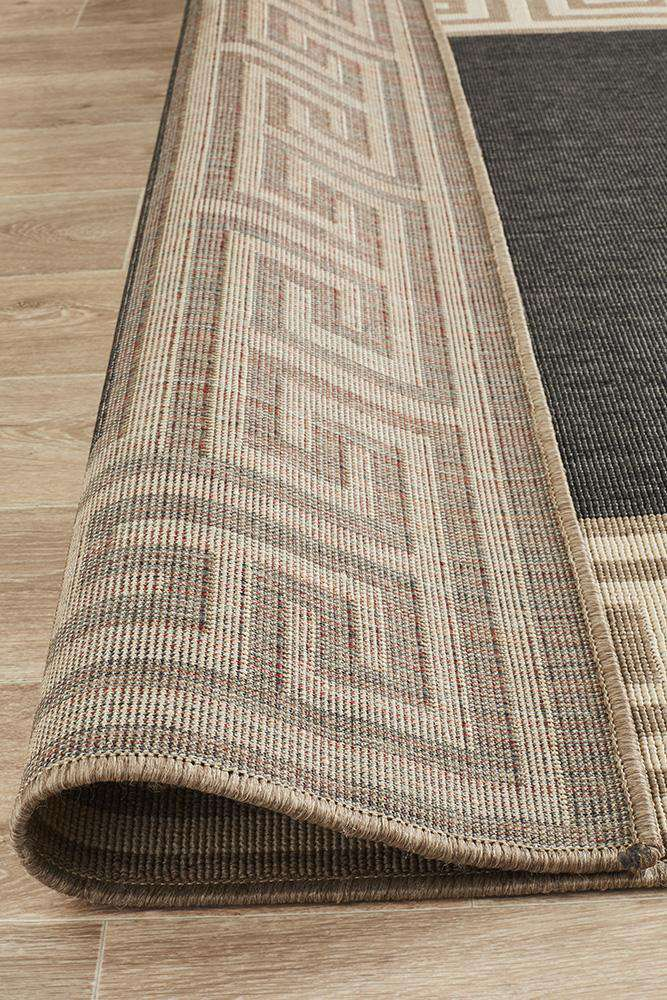 Alfresco Charcoal Rug - Grace