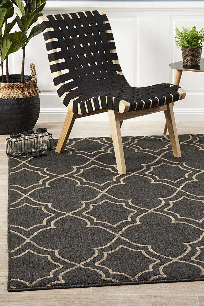 Alfresco Charcoal Rug - Maggie