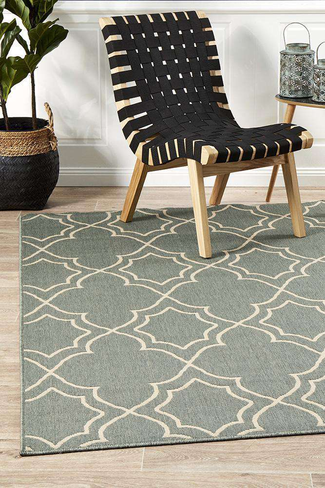 Alfresco Teal Rug - Iris