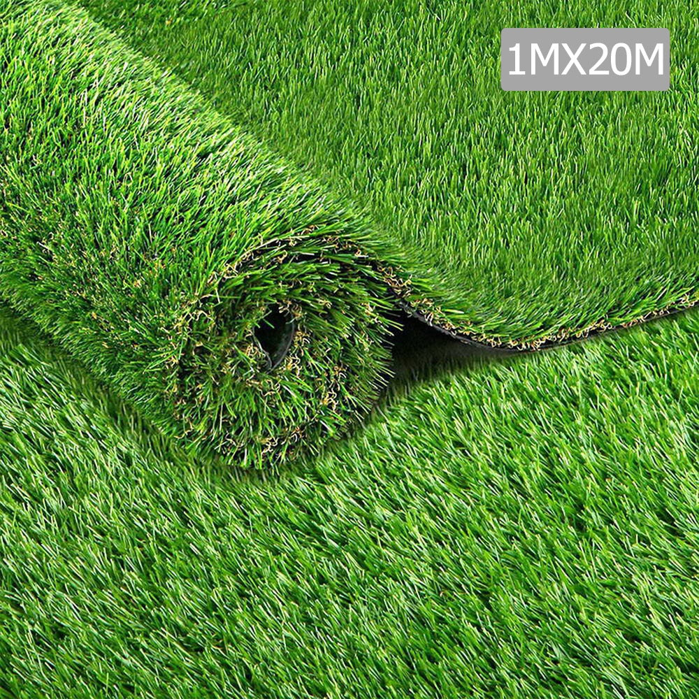 Primeturf 1m x 20m 20SQM Synthetic Turf Artificial Grass Plastic Plant Fake Lawn 30mm