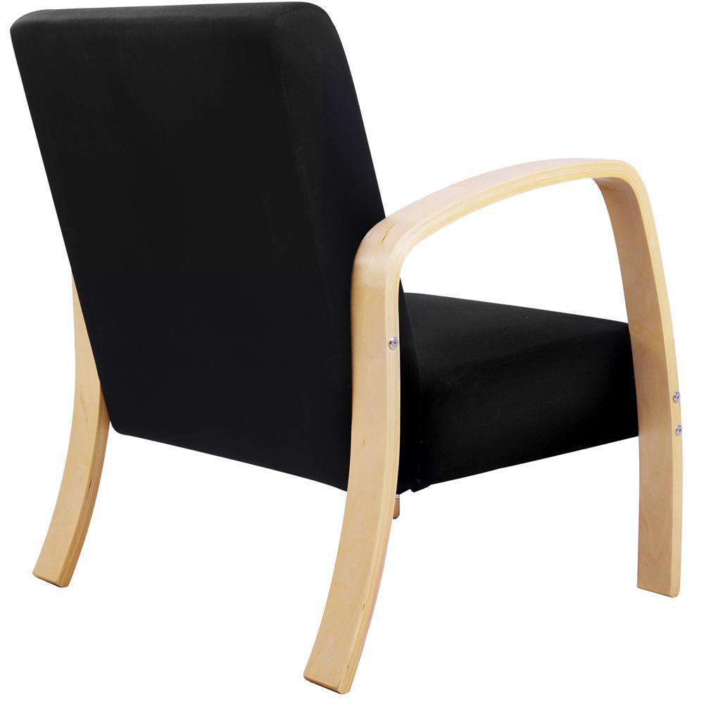 Artiss Wooden Armchair with Cushion - Black