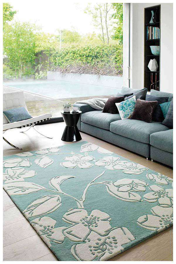 Asiatic Devore Blue Rug