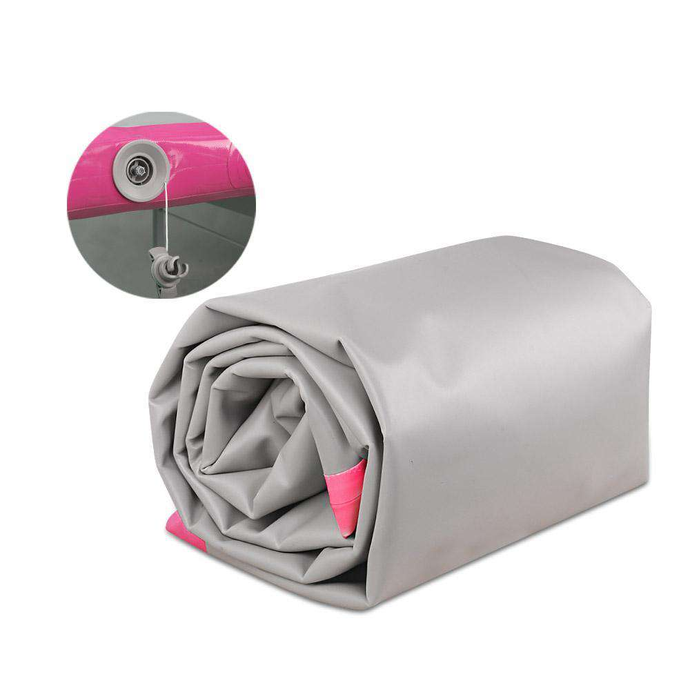 Slim Inflatable Air Mat Pink and Grey - Desirable Home Living