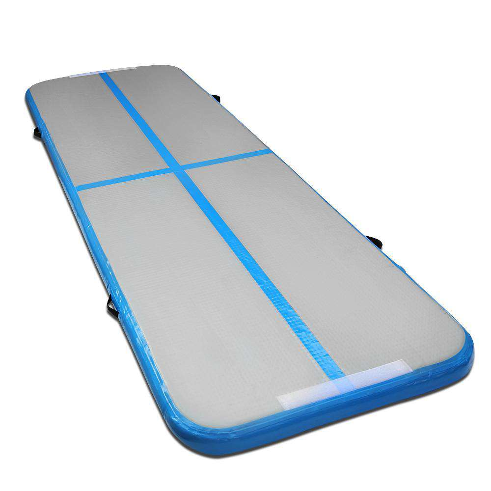 Inflatable Air Mat Blue and Grey