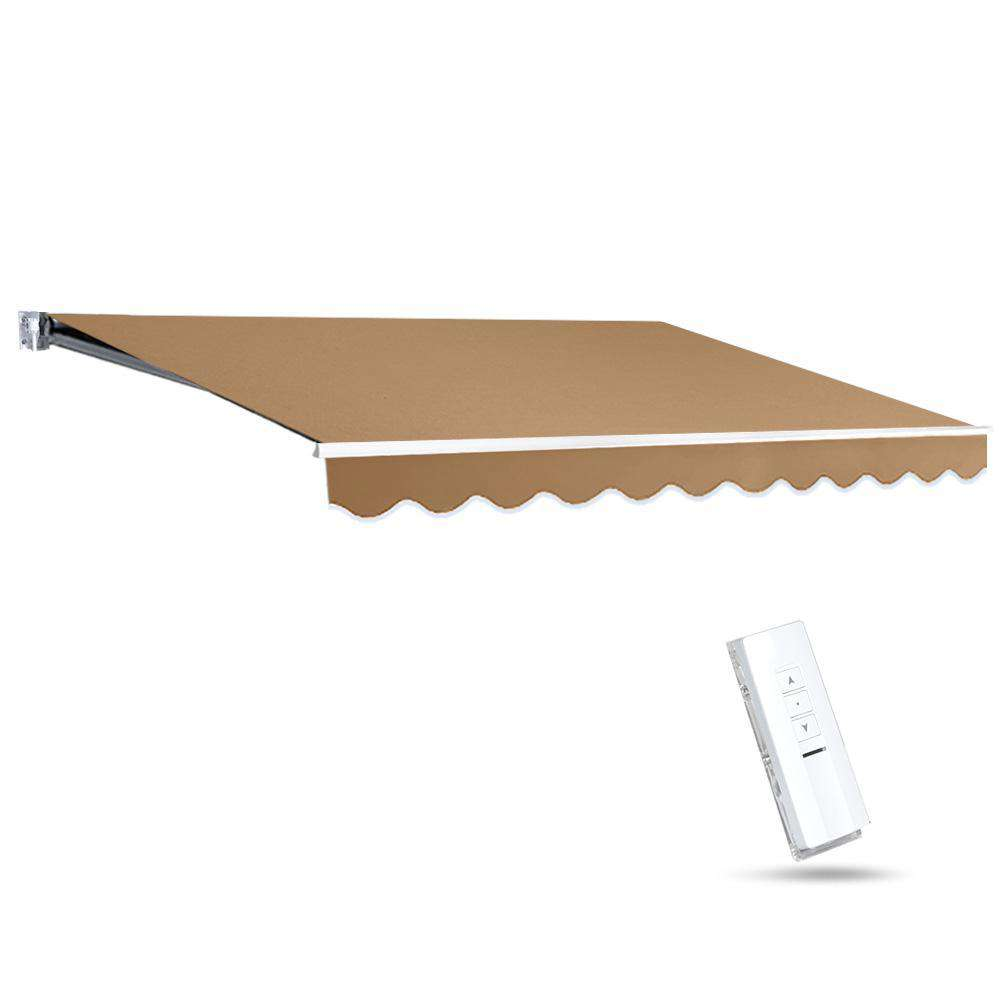 Instahut Motorised 3x2.5m Folding Arm Awning - Beige