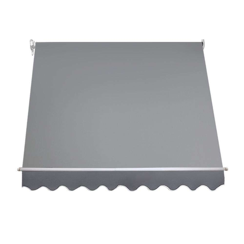 Instahut 2.4m x 2.1m Retractable Straight Drop Roll Down Awning - Grey