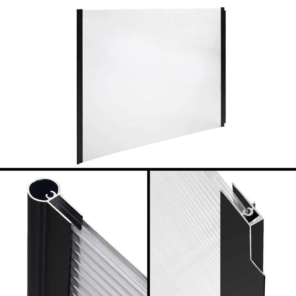 Instahut DIY Window Door Awning Shade 1 x 2m - Transparent