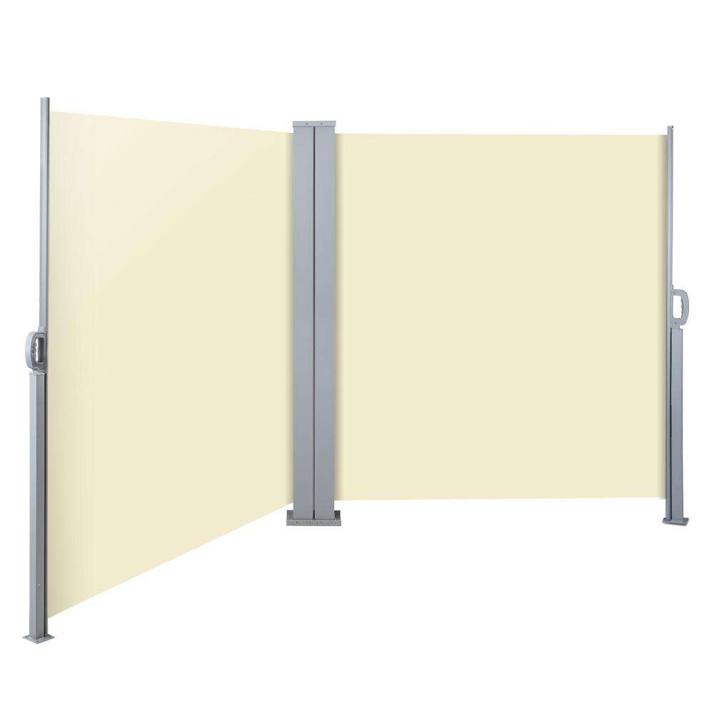 Instahut 2X6M Retractable Side Awning Garden Patio Shade Screen Panel Beige