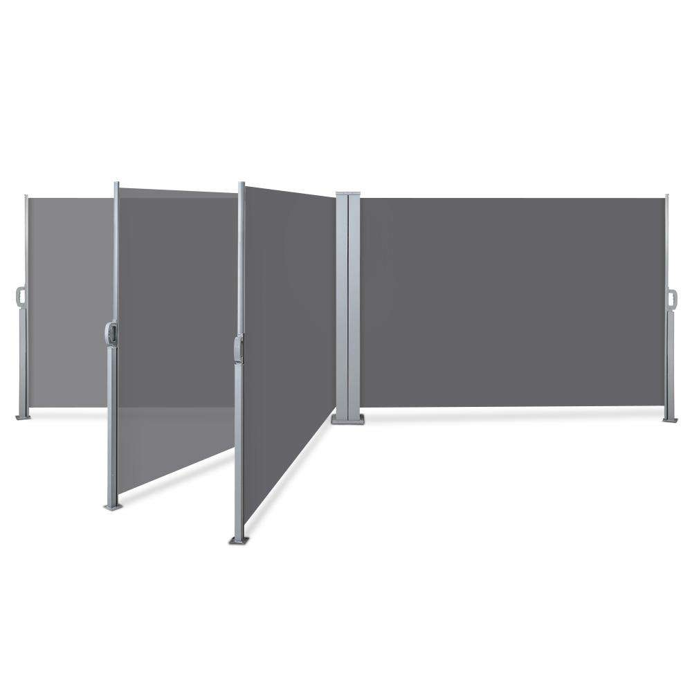 Instahut 2X6M Retractable Side Awning Garden Patio Shade Screen Panel Grey