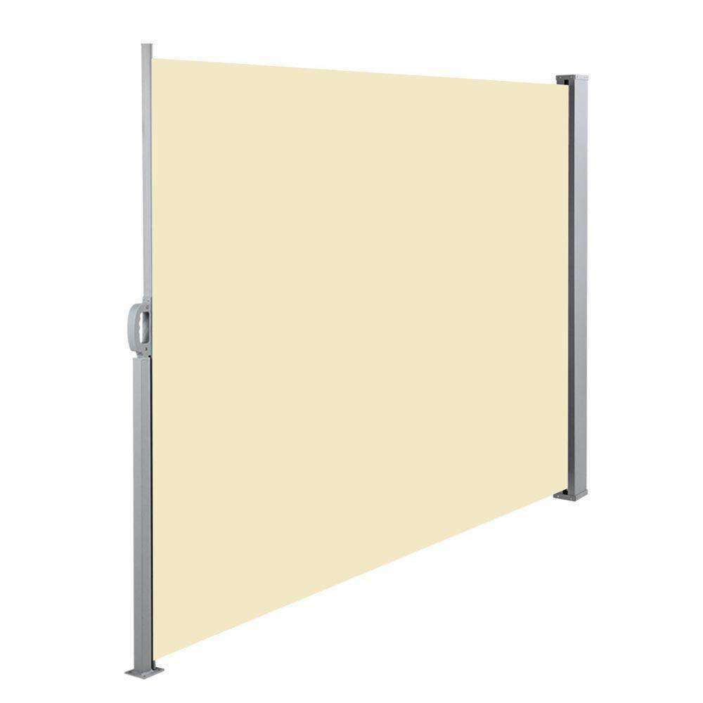 Retractable Side Awning Shade 200cm Beige - Desirable Home Living